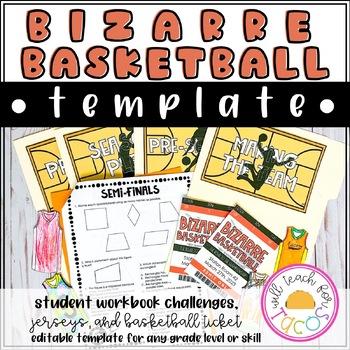 Editable Bizarre Basketball Test Prep