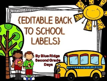 Editable Black Back To School Labels