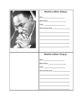 Editable Black History Month Trading Cards