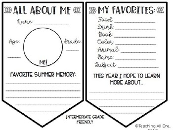 Editable, Black & White All About Me Banners