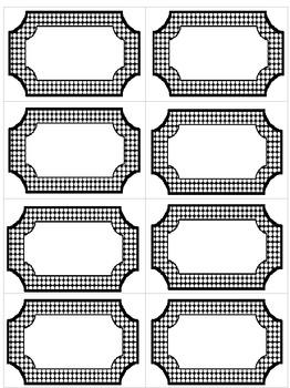 Editable Black & White Polka Dot Labels