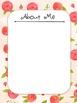 Editable Black, White, and Fuchsia Floral Themed Teaching Portfolio