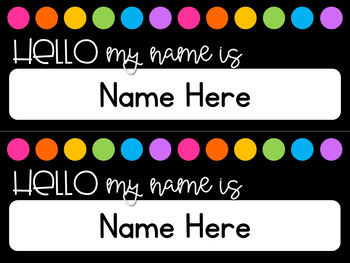 Editable Black and Brights Nameplates