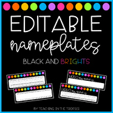 Editable Black and Brights Nameplates