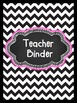 Editable Black and White Chevron Binder & Spines
