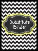 Editable Black and White Chevron Binder & Spines