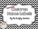 Editable Name Labels, Chevron, Back to School