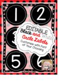 Editable Black and White Labels (Circular)