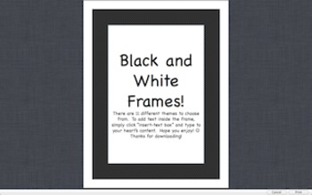 Editable Black and White Frames