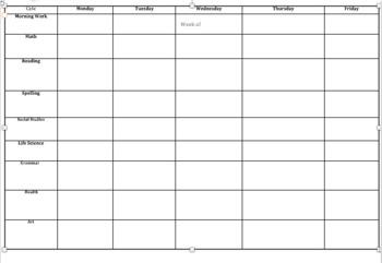 Editable Black and White Lesson Planner
