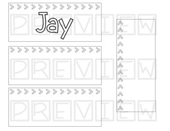 Editable Black and White Name Tags