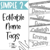 Editable Black and White Name Tags Vol. 2