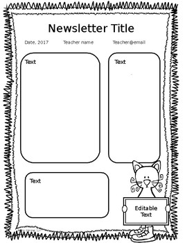 Editable Black and White Newsletters, Certificates, and Templates