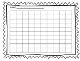 Editable Blank 100's Chart