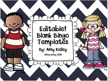 editable blank bingo templates by amy kelley teachers pay teachers