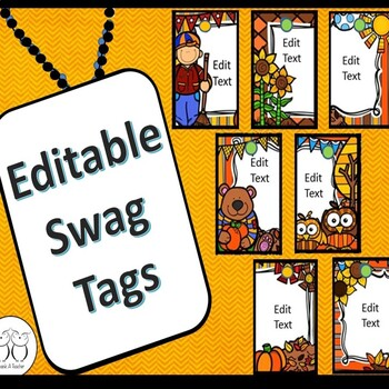 Editable Blank Brag Tags