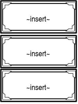 Editable Blank Cards ~ Templates ~ 4 Designs, 3 Different Sizes!