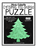 Editable/ Blank Christmas Tree-Shaped PUZZLE TEMPLATE