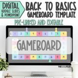 Editable Blank Gameboard Template Theme Google Slides Back
