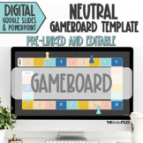 Editable Blank Gameboard Template Theme Google Slides Neutral