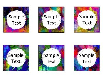 Editable Blank Labels in Watercolor Theme