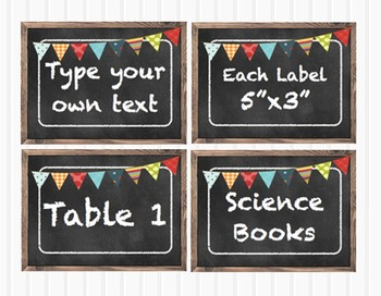 Chalkboard Blank Multipurpose Classroom 5x3 Labels