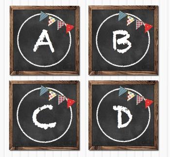 Chalkboard Editable Blank Multipurpose Classroom Round Labels
