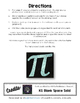 Editable/ Blank Pi-Shaped PUZZLE TEMPLATE
