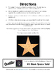 Editable/ Blank Star-Shaped PUZZLE TEMPLATE