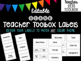 Editable BLANK Teacher Toolbox Labels