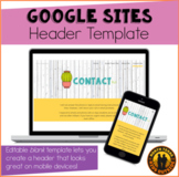 Editable Blank Template for Google Sites Banner | Distance