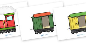 Editable Blank Train