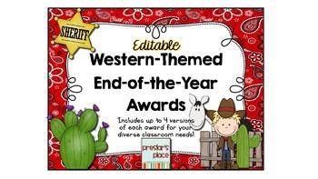 Editable Blank Western-Themed Award Templates