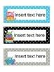 Editable Blank Word Cards Polka Dot Monster Theme
