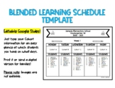 Editable Blended Learning Schedule Template