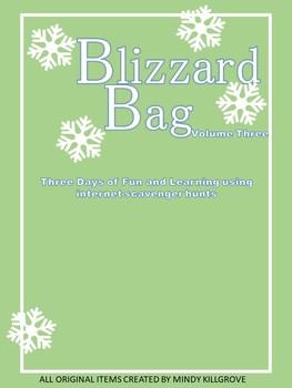 Editable Blizzard Bag (Volume Three: Internet Scavenger Hunts)