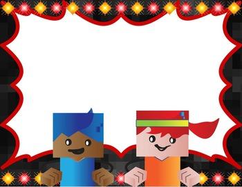 Clip Chart BlockCraft Kids Themed - Editable