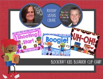 Editable BlockCraft Kids Themed Behavior Clip Chart