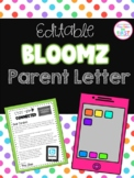 Editable Bloomz Parent Letter