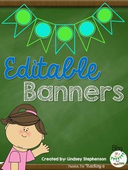 Editable Banners {Bulletin Board Style}