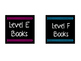 Editable Blue and Pink Library Labels