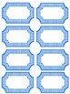 Editable Blue and White Polka Dot Labels