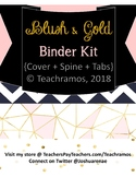 Editable Blush & Gold Binder Kit - Cover, Spine, + Tabs
