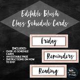 Editable Blush Schedule Cards