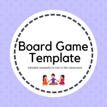 Editable  Board Game Template