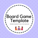 Board Games and editable template