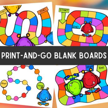 Editable board game templates colorful monsters by allison french editable board game templates colorful monsters pronofoot35fo Image collections
