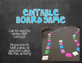 Editable Board Game to Review ANY Concept