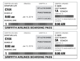 Editable Boarding Pass- Virtual Field Trip Prop- Travel Theme Classroom