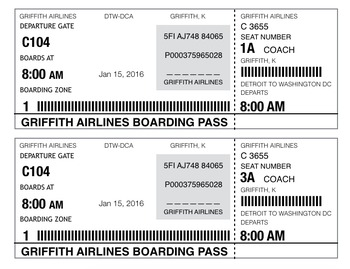 Editable Boarding Pass- Virtual Field Trip Prop- Travel Th